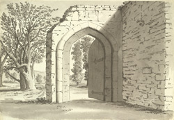 Godstow Abbey, gate